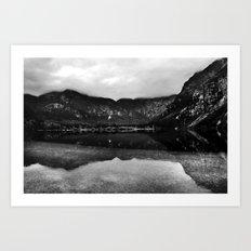 Lake Bohinj, Bled, Slovenia. Art Print
