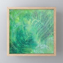 Green Ferns Framed Mini Art Print