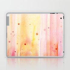 Pink Orange Rain Watercolor Texture Splatters Laptop & iPad Skin