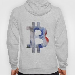 Bitcoin Bright multicolored nebulous watercolor Hoody