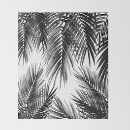 Palm Leaf Jungle Vibes #3 #tropical #decor #art #society6 Throw Blanket