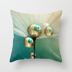 Dandy with Drops of Gold and Jade Throw Pillow