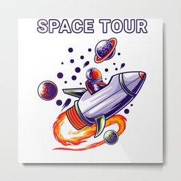 Space Tour Metal Print
