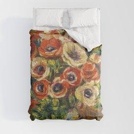 """Auguste Renoir """"Anémones dans un vase"""" Comforters"""