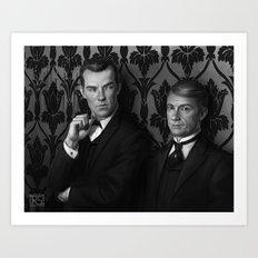 Holmes & Watson -- BBC meets Granada Art Print