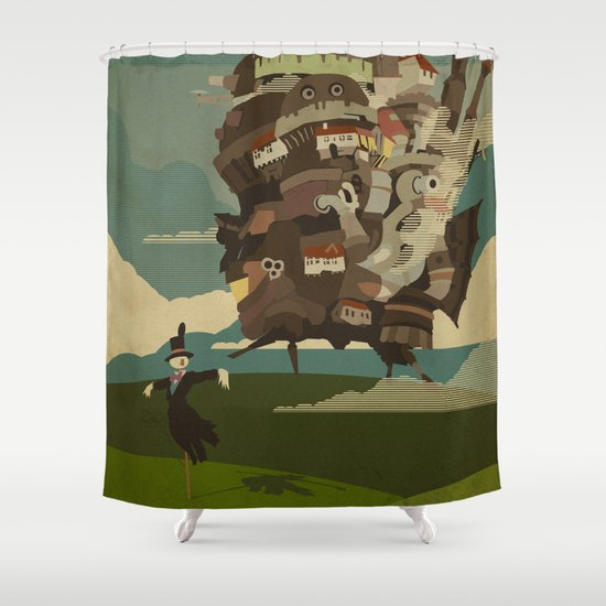 Moving Castle Shower Curtain