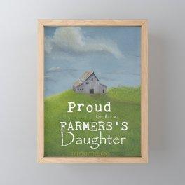 Farmer's Daughter Framed Mini Art Print