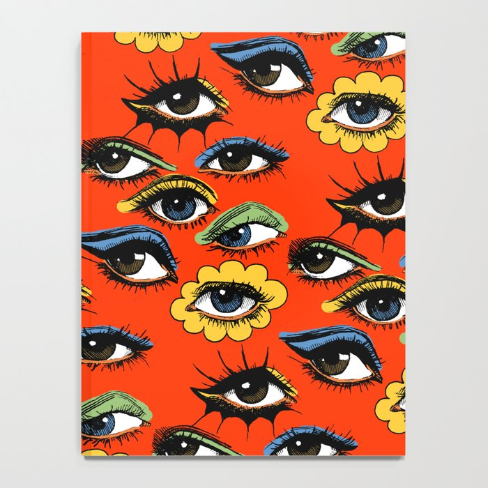 60s Eye Pattern Notebook