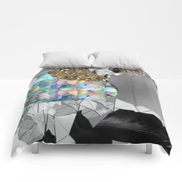 fashion collage Comforters