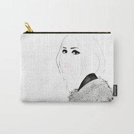 Watercolour Fashion Illustration Titled Wild Child Carry-All Pouch