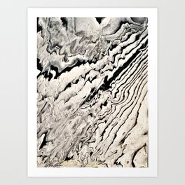 Black and white abstract pattern acrylic Art Print