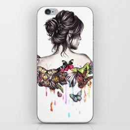 Butterfly Woman iPhone Skin