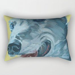 Dilly the Greyhound Portrait Rectangular Pillow