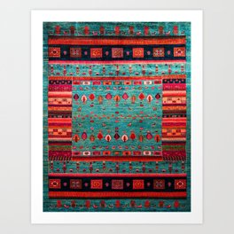Anthropologie Ortiental Traditional Moroccan Style Artwork Art Print