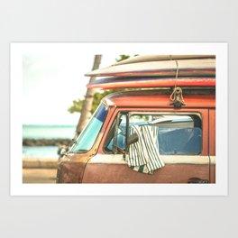 Surf Van Maui Hawaii Art Print