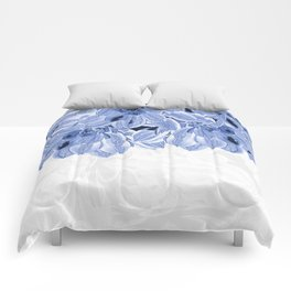 Elegant Blue Flowers Design Comforters