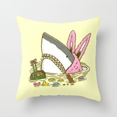 The Easter Shark Throw Pillow