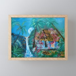 Hawaiian Hut Flip Flops Framed Mini Art Print