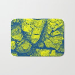 Abstract - in yellow & green Bath Mat