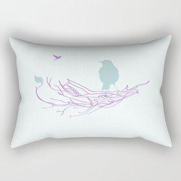 Nest with Bird Rectangular Pillow