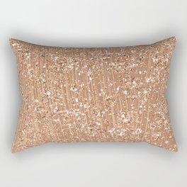Rose gold brushstrokes and glitter Rectangular Pillow
