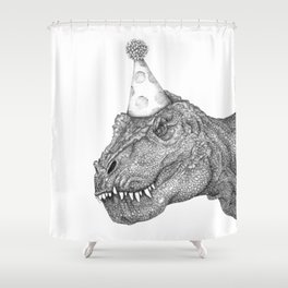 Party Dinosaur Shower Curtain