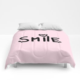 Smile Pink Comforters