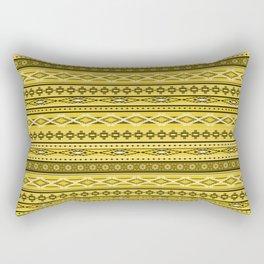 Modern Native Navajo Ethnic Tribal - Tuscan Sun Color Rectangular Pillow