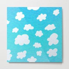 Happy Little Clouds Metal Print