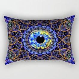 Orange Eye Of Power Rectangular Pillow