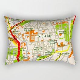 Jerusalem map design Rectangular Pillow
