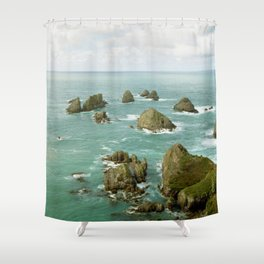 Where two oceans meet Shower Curtain