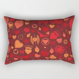 heart seamless pattern (valentine's day background) Rectangular Pillow