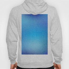 Circuit board on blue gradient background Hoody
