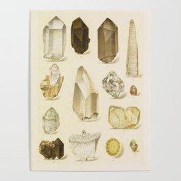 Quartz Crystals Poster