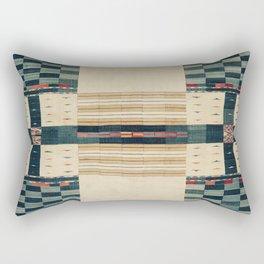 V43 Old Epic Moroccan Carpet Design Rectangular Pillow