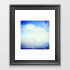 Clouds over the Ocean Framed Art Print