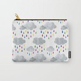 Rainbow Rain Clouds Carry-All Pouch