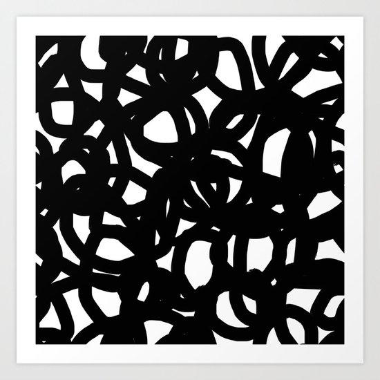 Freestyle in black Art Print