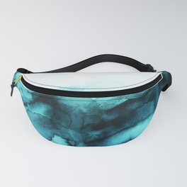 Abstract teal purple watercolor Fanny Pack
