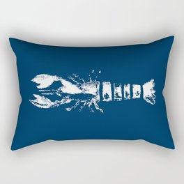 Nautical Themes, Lobster in Blue Rectangular Pillow