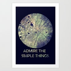 Admire The Simple Things Art Print