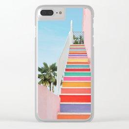 Rainbow Stairway Clear iPhone Case