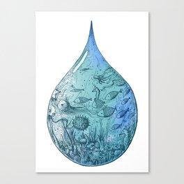 OCEAN DROP Canvas Print