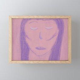 White Pink Violet Flame Woman Shekhinah Shakti Nur Framed Mini Art Print