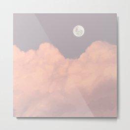 Full Moon Sky Aesthetic Metal Print