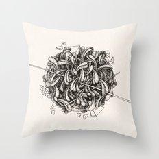 The Knitting Throw Pillow