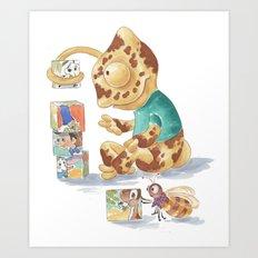 Cametol Cubes Art Print