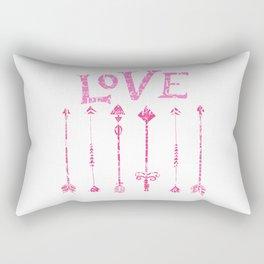 Retro Love with Tribal Arrows Rectangular Pillow