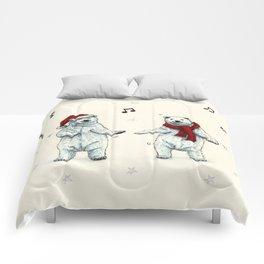 The polar bears wish you a Merry Christmas Comforters